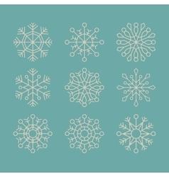 snowflake concept design vector image