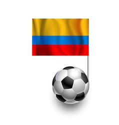 Soccer Balls or Footballs with flag of Columbia vector