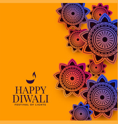 Stylish indian decorative pattern for diwali vector