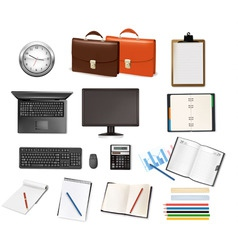 super mega set business supplies vector image