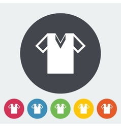 T-shirt single icon vector