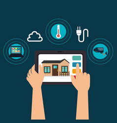 Tablet device controlling smart home vector