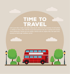 Time to travel infographic vector