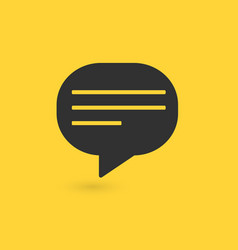typing in a chat bubble icon isolated comment vector image