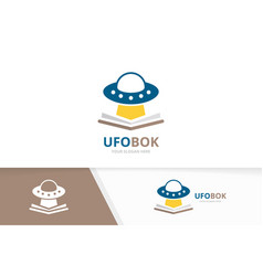 ufo and open book logo combination vector image