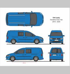 vw caddy trendline maxi crew 2015-present vector image