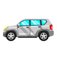 White off-road vehicle isolated on vector