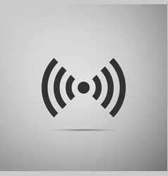 wi-fi network symbol flat icon on grey background vector image