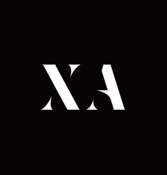 Xa logo letter initial logo designs template vector