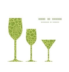 abstract green natural texture three wine vector image