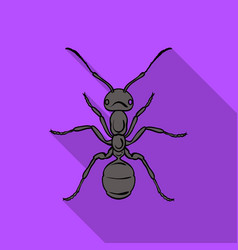 ant icon in flat style isolated on white vector image