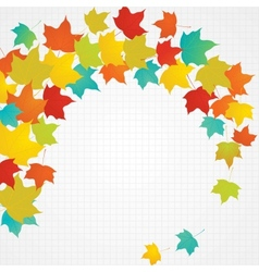 Autumn flying leaves with blank copy space vector image