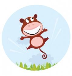 cartoon monkey vector image vector image