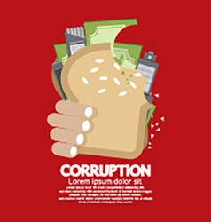 Corruption concept vector
