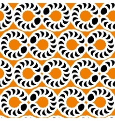 The pattern of black and white circles vector image