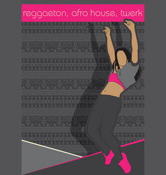 Booty dance afro house vector