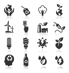 Ecology icons set3 vector image