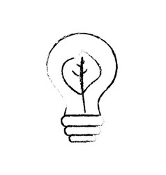 figure energy bulb with leaf inside to environment vector image vector image