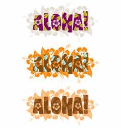 illustration of aloha word vector image vector image