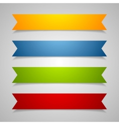 Set of label ribbons vector image vector image