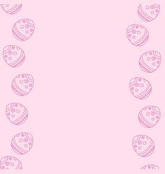 soft pink background with easter eggs vector image vector image