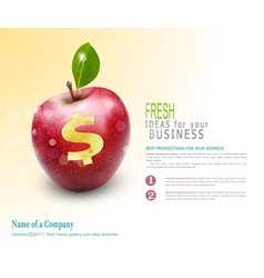 template for business Apple vector image vector image