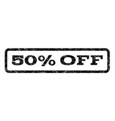 50 percent off watermark stamp vector