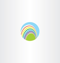 circle rainbow logo sign vector image