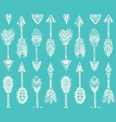 Seamless pattern with native american indian vector