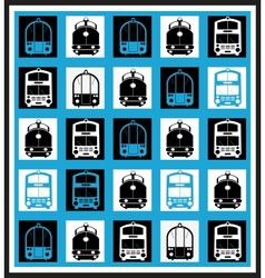Transportation mosaics vector image