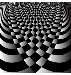 Abstract op art design vector image vector image