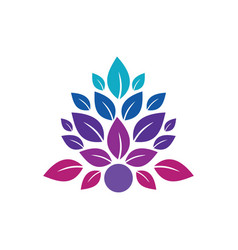 leaf abstract beauty spa logo image image vector image vector image
