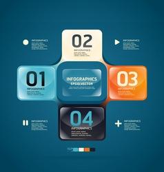 Modern glass color design template vector