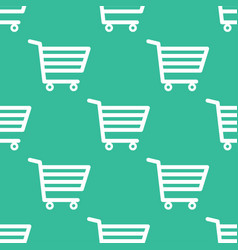 seamless pattern shopping cart vector image vector image