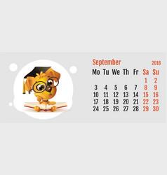 2018 year of yellow dog on chinese calendar fun vector