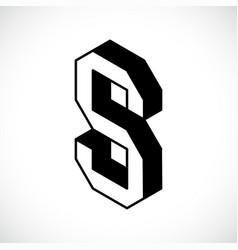 3d letter s logo icon design template element vector