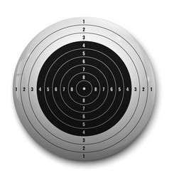 3d realistic target vector image