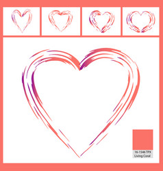 abstract paint brush pattern of a heart vector image