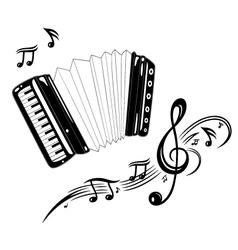 Accordion music vector image