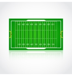 American football realistic textured field vector
