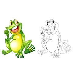 Animal outline for little frog vector