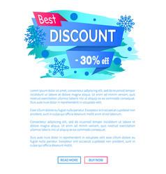 Best discount -30 off winter sale label snowballs vector