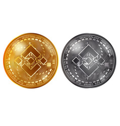 binance gold and silver coins vector image