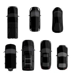 Black car set vector image