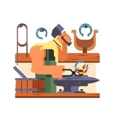 Blacksmith character cartoon vector