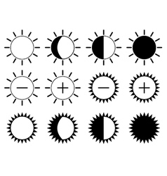 Brightness icons vector