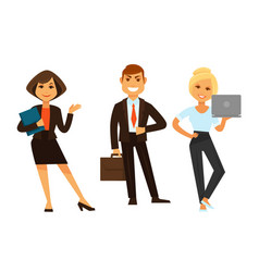 Business people icons of manager clerk and vector