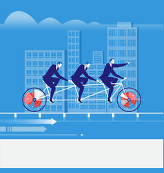 Businessmen riding tandem vector