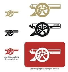 cannon icon vector image