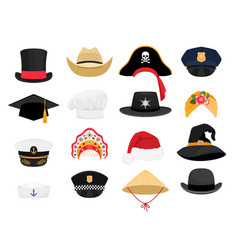 carnival costumes hats vector image